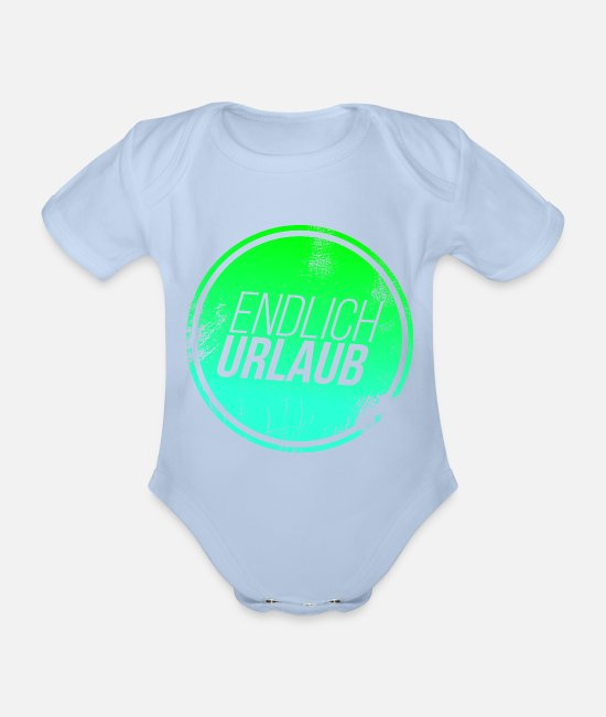 Diver Baby Bodysuits - vacation - Organic Short-Sleeved Baby Bodysuit sky