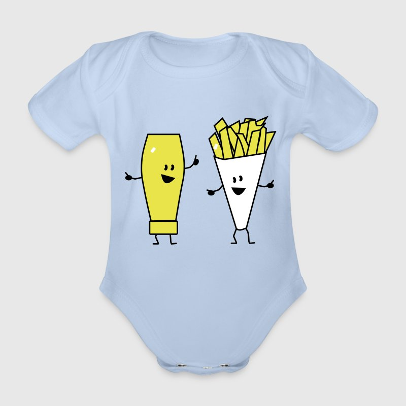 mayonnaise french fries - Body bébé bio manches courtes