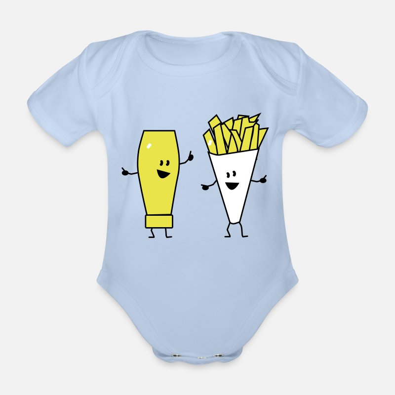 Mayonnaise Vêtements Bébé - mayonnaise french fries - Body manches courtes Bébé ciel