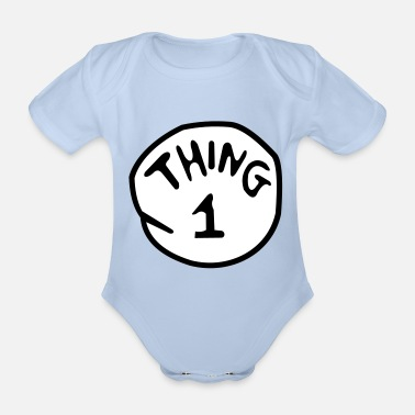 1 thing 1 - Organic Short-Sleeved Baby Bodysuit