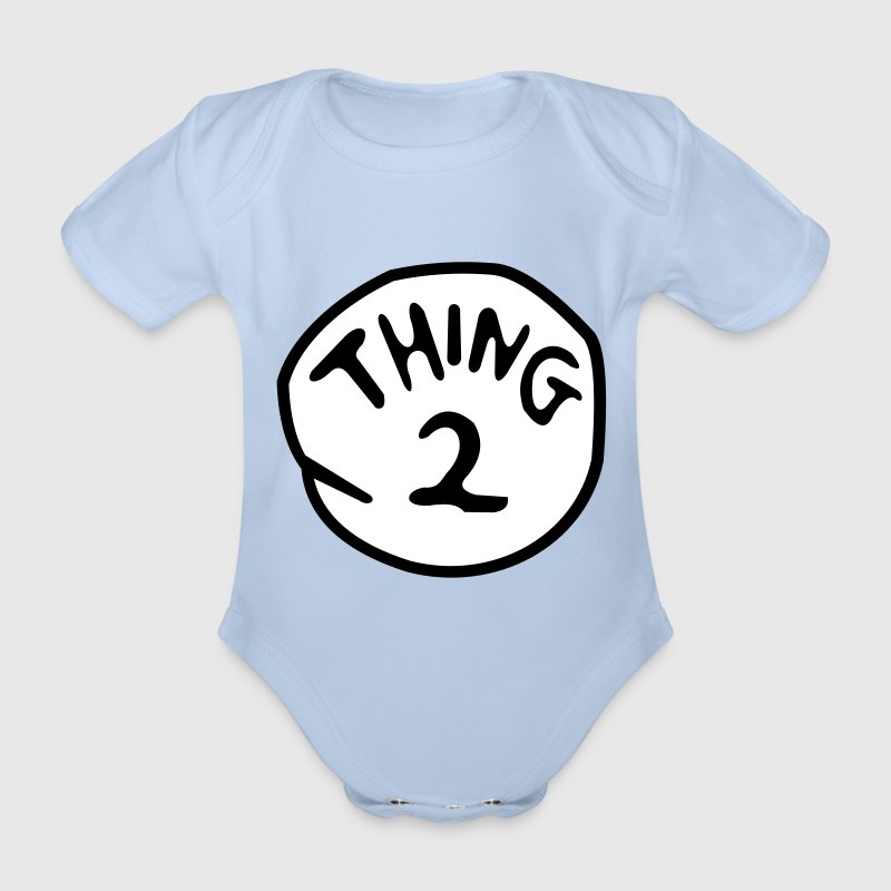 thing 2 - Organic Short-sleeved Baby Bodysuit