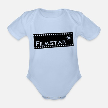 Movie Star Movie star - Organic Short-Sleeved Baby Bodysuit