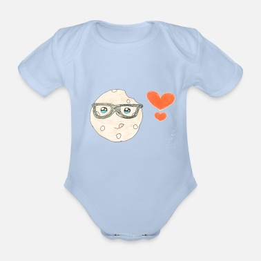 For Kids Kids for Kids: biscuit with heart - Organic Short-Sleeved Baby Bodysuit
