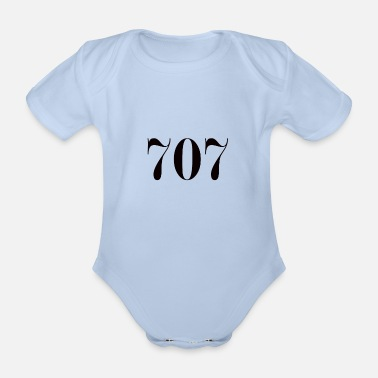 Lucky Number Number 707 lucky number - Organic Short-Sleeved Baby Bodysuit