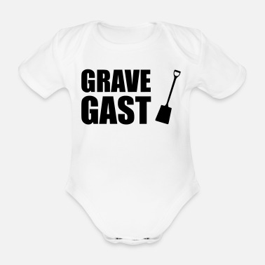 Grave Grave guest - Organic Short-Sleeved Baby Bodysuit