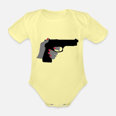 Gun Gun - Organic Short-Sleeved Baby Bodysuit