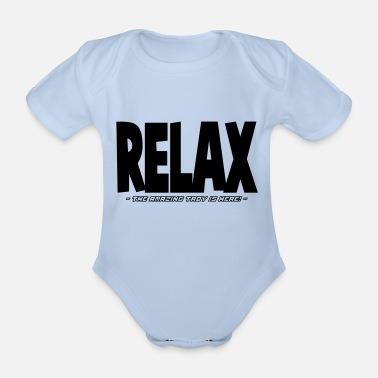 Relax relax the amazing troy is here - Organic Short-Sleeved Baby Bodysuit