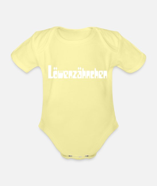 Love Baby Clothes - loewenzähnchen - Organic Short-Sleeved Baby Bodysuit washed yellow