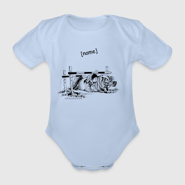 PoneyChute Thelwell Dessin - Body bébé bio manches courtes