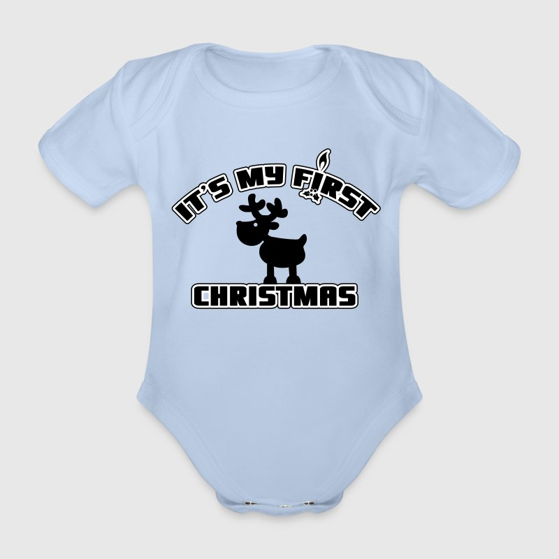 It's my first Christmas - Body ecologico per neonato a manica corta