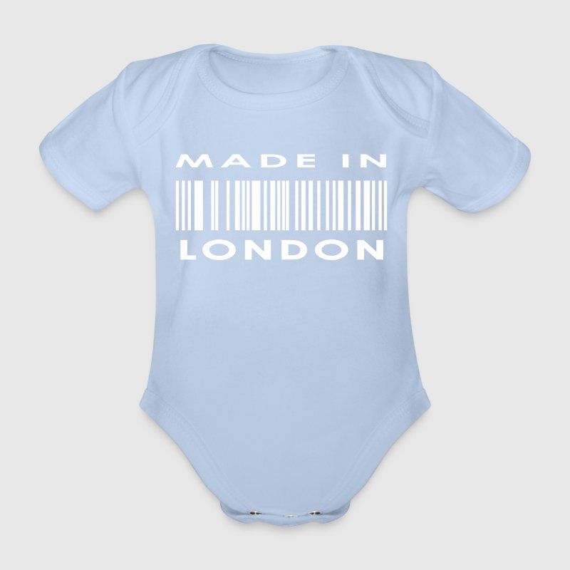 Made in London - Organic Short-sleeved Baby Bodysuit