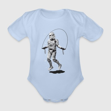 STORMTROOPER SKIPPING - Organic Short-sleeved Baby Bodysuit