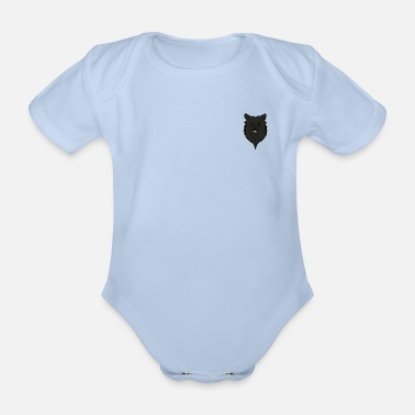 Full Blood Wolf colored - Organic Short-Sleeved Baby Bodysuit