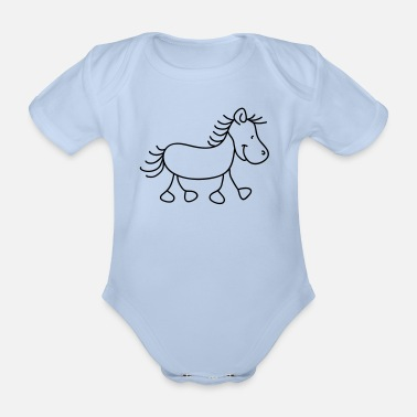 Pony Sweet little pony - Baby bio-rompertje met korte mouwen