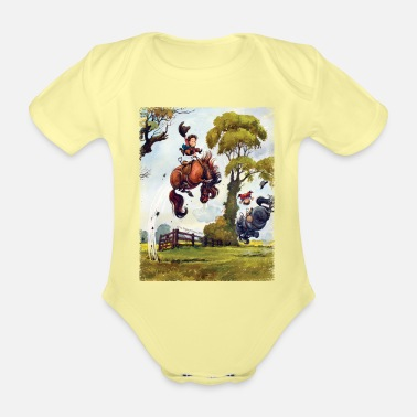 Officialbrands PonyRodeo Thelwell Cartoon - Organic Short-Sleeved Baby Bodysuit
