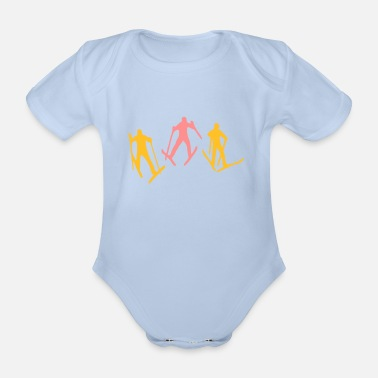Ski - Organic Short-Sleeved Baby Bodysuit