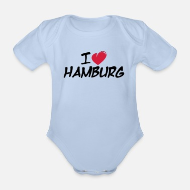 Hamburger I love Hamburg / Ich liebe Hamburg - Baby Bio-Kurzarm-Body
