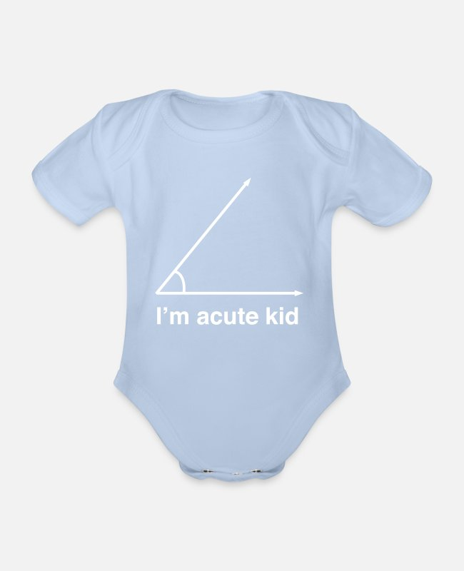 Cute Baby Bodysuits - I'm Acute Kid - Organic Short-Sleeved Baby Bodysuit sky