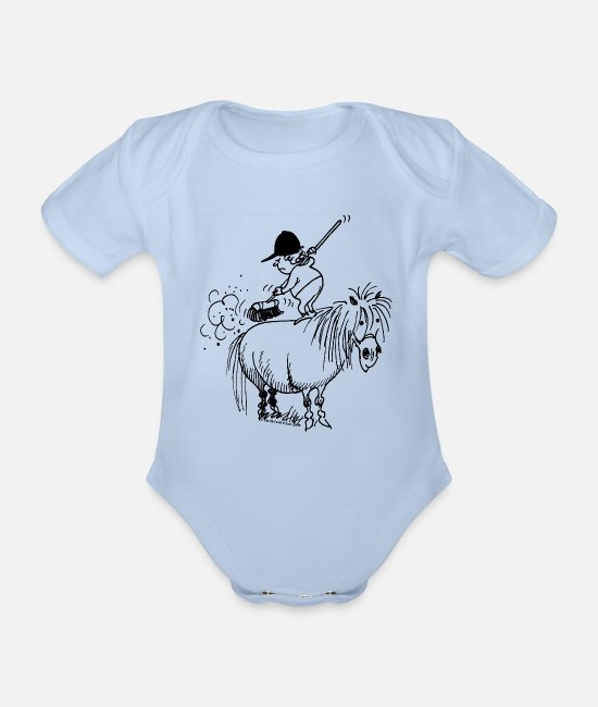 Thelwell Baby bodies - Thelwell 'Spring-cleaning' - Rompertje met korte mouwen sky