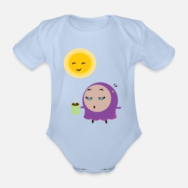 Good Morning Good Morning - Organic Short-Sleeved Baby Bodysuit