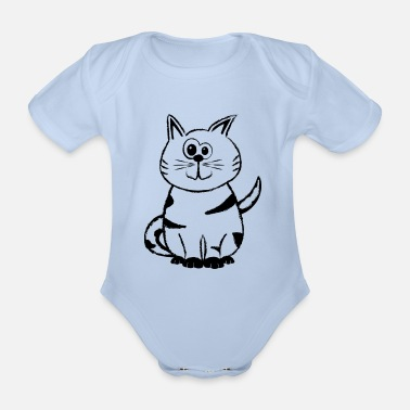 Diego the Cat 2 - Organic Short-Sleeved Baby Bodysuit