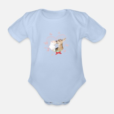 Officialbrands Animal Planet Deer and Cat - Organic Short-sleeved Baby Bodysuit