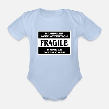 Fragile fragile - Organic Short-sleeved Baby Bodysuit