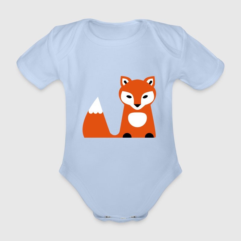 Fuchs Illustration - Baby Bio-Kurzarm-Body