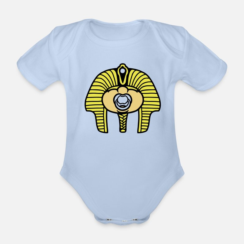 Pharaoh Baby Clothing - pharaoh - Short-Sleeved Baby Bodysuit sky