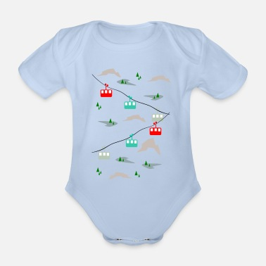 On the snow - Organic Short-Sleeved Baby Bodysuit