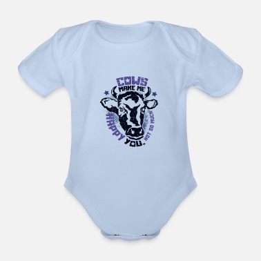 Cows make happy dairy farmer farmer cow - Organic Short-Sleeved Baby Bodysuit