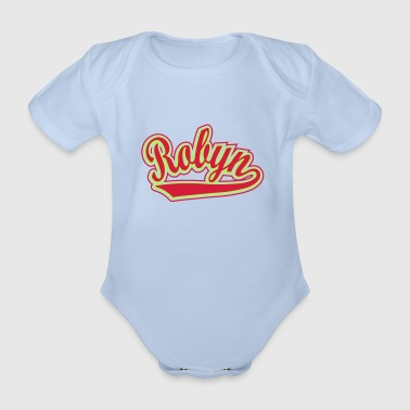 Personalised  - T-shirt personalised with your name - Organic Short-sleeved Baby Bodysuit