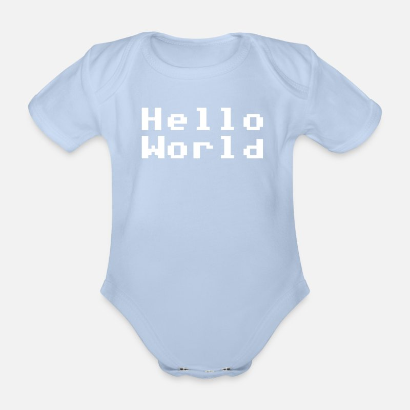 Hello Babykleidung - Hello World - Baby Kurzarmbody Sky