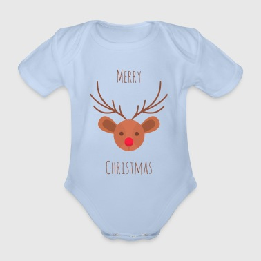 God jul - Ekologisk kortärmad babybody