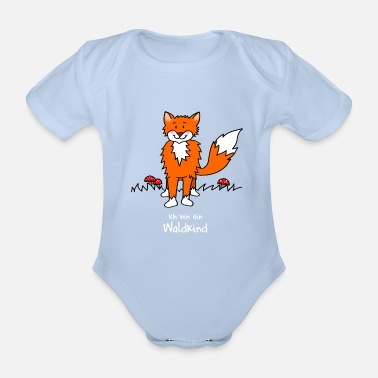 Kindergarten Naughty fox for forest kindergarten - Organic Short-Sleeved Baby Bodysuit