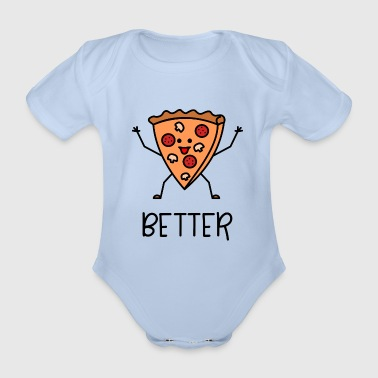 Better Together Partnerlook (Part1) Pizza - Baby Bio-Kurzarm-Body