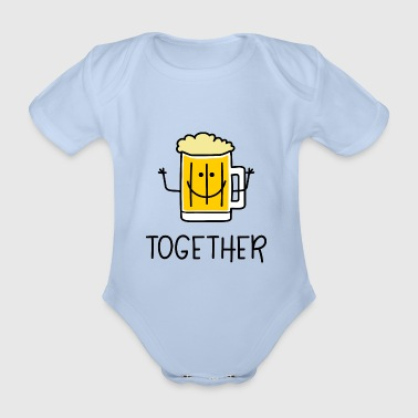 Better Together Partnerlook (Part2) Beer bier - Baby bio-rompertje met korte mouwen