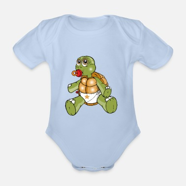 Toddler TURTLE TODDLER - Organic Short-sleeved Baby Bodysuit
