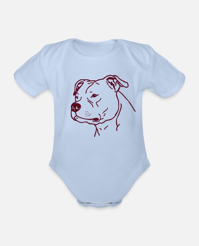 Hund Baby Bodys - stafford - www.dog-power.nl - Baby Bio Kurzarmbody Sky