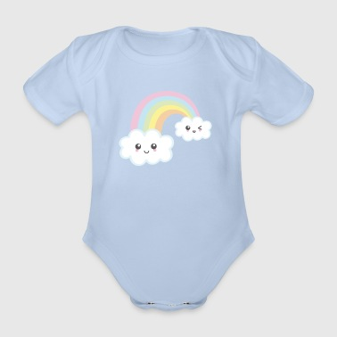 Rainbow Kawaii - Baby Bio-Kurzarm-Body