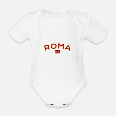 Rome Wolf Rome Rome Italy - Organic Short-Sleeved Baby Bodysuit