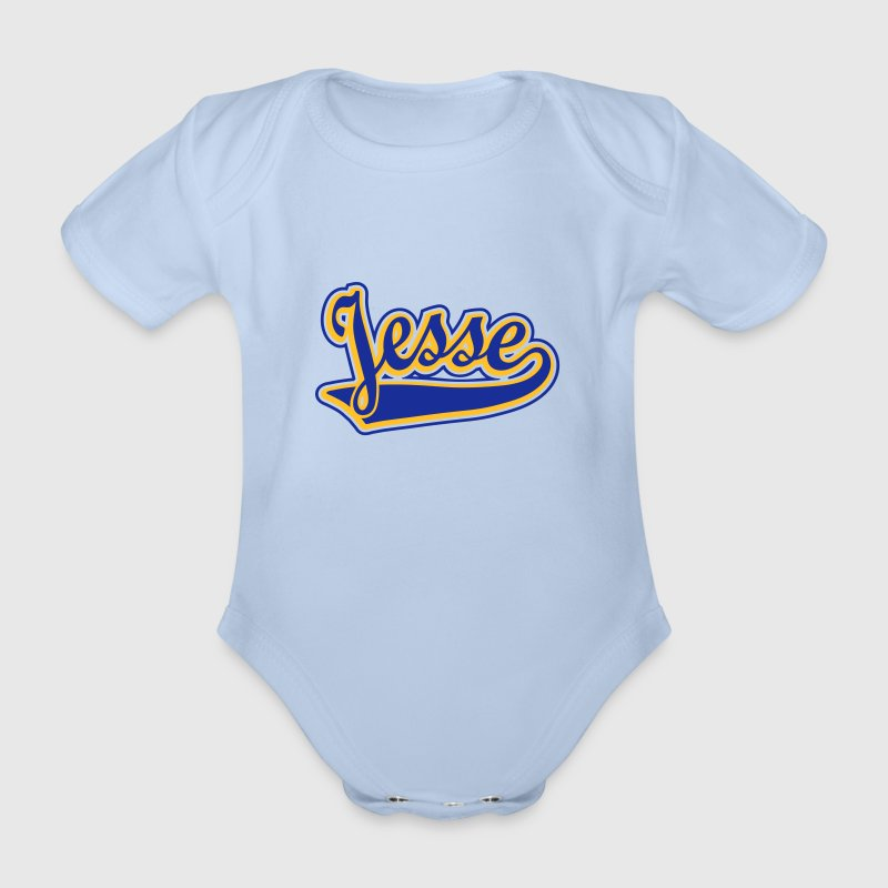 Jesse - T-shirt Personalised with your name - Organic Short-sleeved Baby Bodysuit