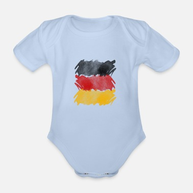 German Flag Germany flag, German flag. - Organic Short-sleeved Baby Bodysuit