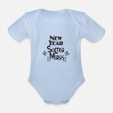 Jingle Bells new year new mess - Organic Short-sleeved Baby Bodysuit