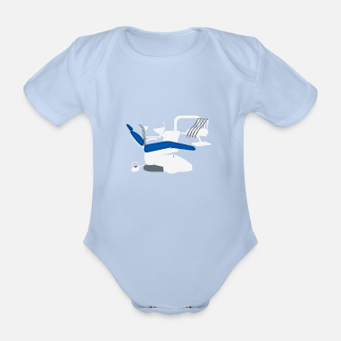 Treatment Dentist treatment chair, dentist chair - Organic Short-Sleeved Baby Bodysuit