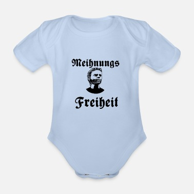 Meihnungsfreiheit, human rights, freedom, protest - Organic Short-Sleeved Baby Bodysuit