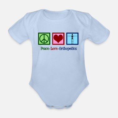Orthopedics Peace Love Orthopedics - Organic Short-Sleeved Baby Bodysuit