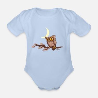 5b7606e19 Cute night owl - Organic Short-Sleeved Baby Bodysuit