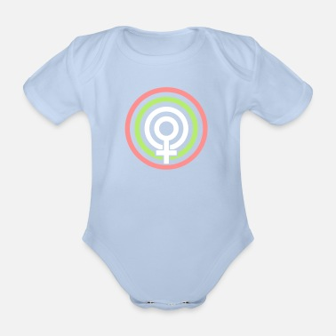Mods Mod Woman - Organic Short-sleeved Baby Bodysuit