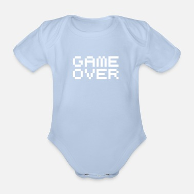 Game Over Game over / game over pixels - Baby Bio-Kurzarm-Body